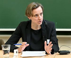 Dr. Imke Leicht bei der Antidiskriminierungstagung des BGD im Februar 2020