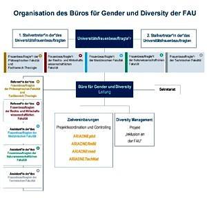 Organisation des Büros für Gender und Diversity